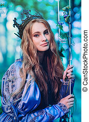 Princess in magic forest