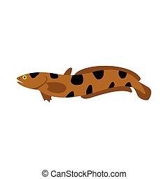 Snakehead icon, flat style - Snakehead icon in flat style...