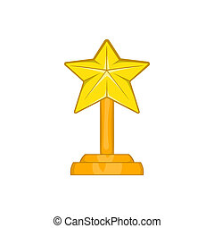 Award star icon, cartoon style - Award star icon in cartoon...