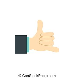 Gesture surfing icon, flat style