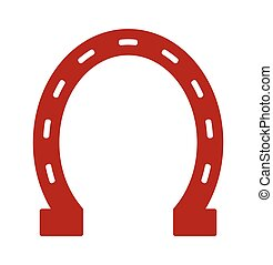 Horse shoe vector icon - Vector illustration of the Horse...