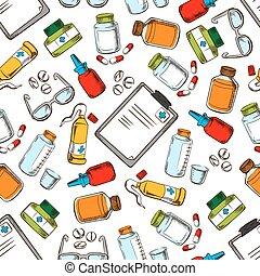 Medical wallpaper. Seamles pattern background