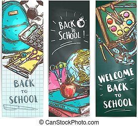 Back to school welcome banner backgrounds - Back to School...
