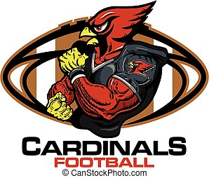 cardinals football - muscular cardinals football player team...