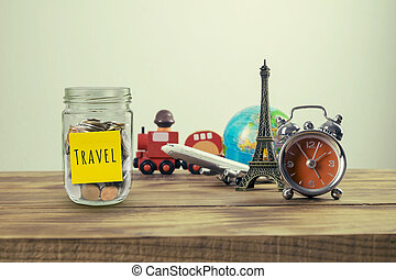 Planning summer vacation,Travel and tourism concept with...