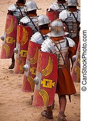 romana, guerreiros