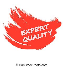 Expert quality - Rubber stamp with text expert quality...