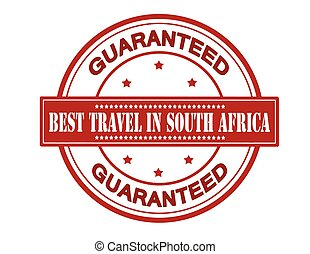Best travel in South Africa - Rubber stamp with text best...