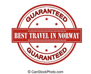 Best travel in Norway - Rubber stamp with text best travel...