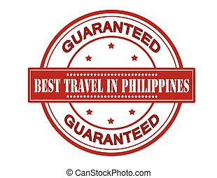 Best travel in Philippines - Rubber stamp with text best...
