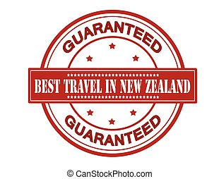 Best travel in New Zealand - Rubber stamp with text best...