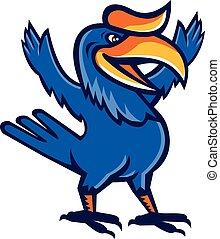 Hornbill Open Arms Full Body Cartoon - Illustration of a...