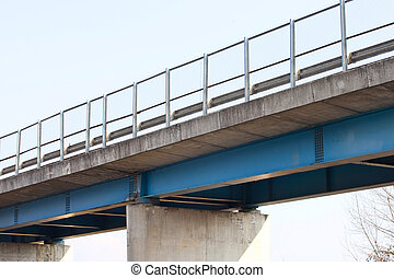 Freeway overpass in Italy. - Empty freeway overpass in Italy...