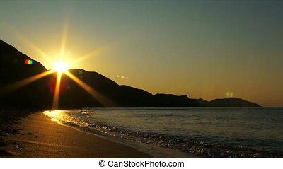 Beautiful sunset glow