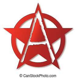 Anarchy A Letter - A large letter A set insice a star and...