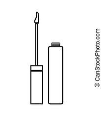 lip cream or gloss icon - flat design lip cream or gloss...