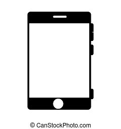 smartphone screen mobile phone icon vector - smartphone...
