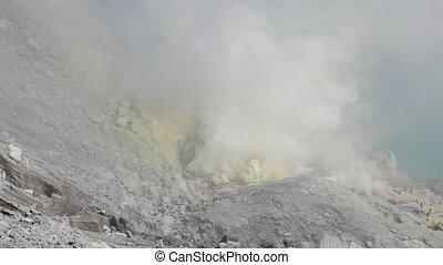 Crater Ijen Volcano  - Indonesia, East Java