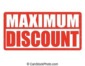 Maximum discount stamp