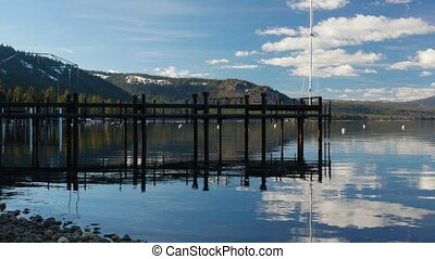Coast of the Lake Tahoe - Beautiful coast of the Lake Tahoe,...