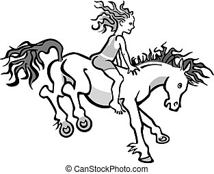 Child on a Leaping Pony