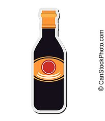 soy sauce icon - flat design soy sauce icon vector...