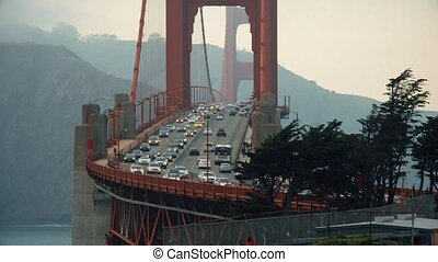 Golden Bridge San Francisco - Traffic on the Golden Bridge...