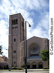First Baptist Church Pasadena - The tower and the entrance...