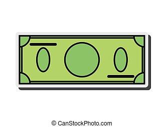 blank dollar bill icon