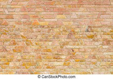 patrón, de, rojo, pizarra, piedra, pared, superficie