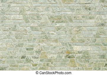 patrón, de, verde, pizarra, piedra, pared, superficie