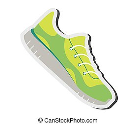 running shoes icon - flat design running shoes icon vector...