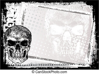 skull background 2 - skull background in the vectors