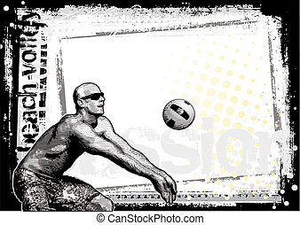 beach volley 2 - beach volley in the vectors