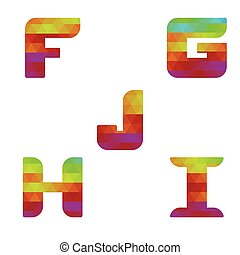 Alphabet colorful letters f to j - Colorful alphabet. Series...