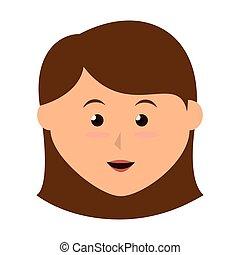girl smile kid - girl cute cartoon female kid child smile...
