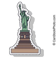 liberty statue isolated icon vector illustration design