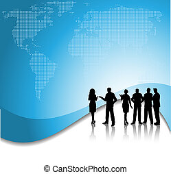 Business conversations - Silhouette of a group of business...