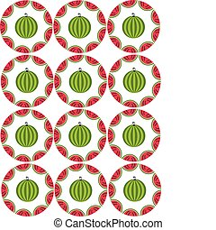 watermelon colorful seamless template, summer design