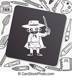 mask man doodle