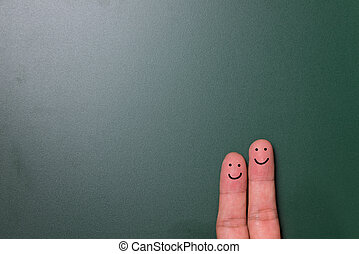 Happy finger couple