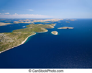 aerial view of the National park Kornati. - aerial view of...