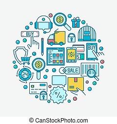 Flat ecommerce illustration