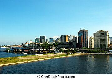 Rio de Janeiro downtown city view