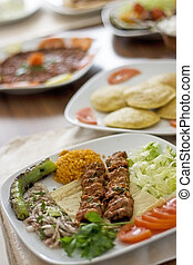 Adana Kebab - Traditional food from Turkish cuisine It is...
