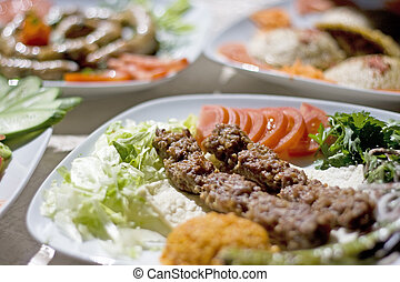 Adana Kebab - Traditional food from Turkish cuisine. It is...
