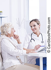 Your medical test results are good - Internist analyzing...