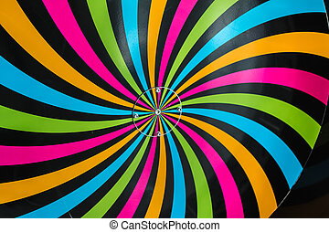 Classical Hypnosis Rotating Spiral, Colorful Cycling Vortex...