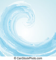Ultimate wave - Abstract wave background in watercolour...