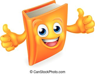 Book Cartoon Character - A book cartoon character man person...